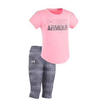 Baby Girl Under Armour Graphic Tee & Capri Leggings Set