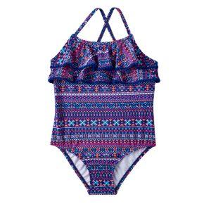 Baby Girl Carter's Tribal Ruffle One-Piece Swimsuit