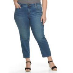 Plus Size Croft & Barrow® Skinny Ankle Jeans