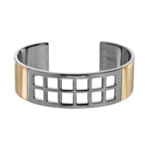 REED Two Tone Geometric Openwork Cuff Bracelet