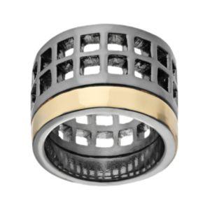 REED Two Tone Geometric Openwork Ring