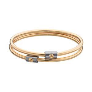 REED Two Tone Bangle Bracelet Set