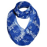 Women's Forever Collectibles Kansas City Royals Logo Infinity Scarf