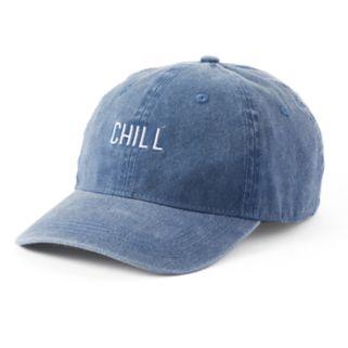 """Women's SO® """"Chill"""" Denim Baseball Cap"""
