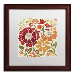 Trademark Fine Art 'Spice Garden I' Wood Finish Framed Wall Art