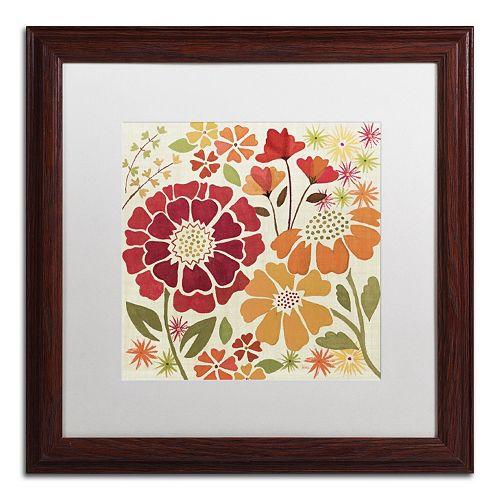 "Trademark Fine Art ""Spice Garden I"" Wood Finish Framed Wall Art"