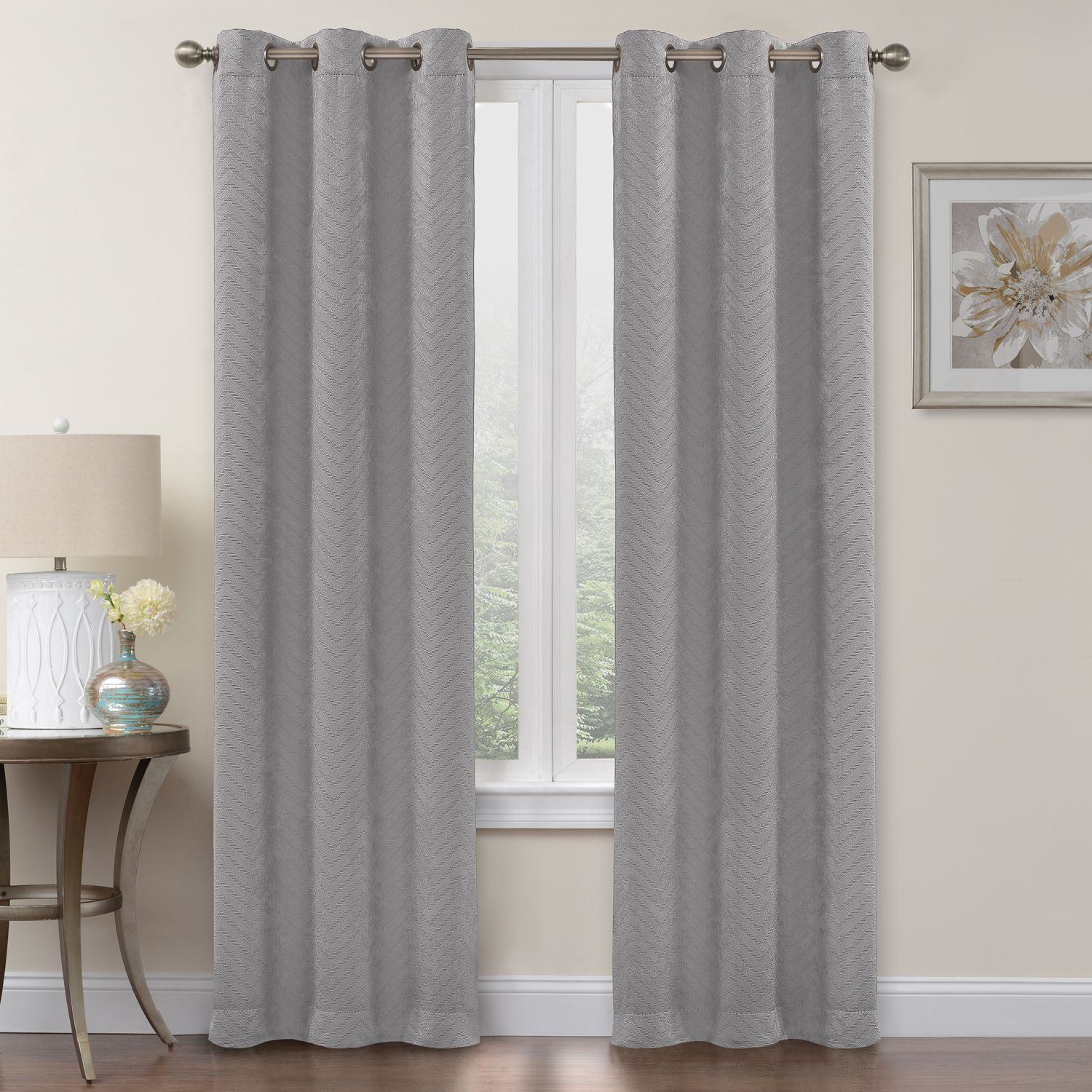 Regent Court 2 Pack Chevron Blackout Curtain