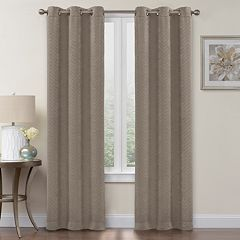 Regent Court 2-pack Chevron Blackout Window Curtains
