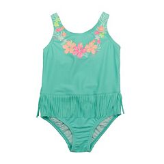Toddler Girl Carter's Fringe Flower One-Piece Swimsuit
