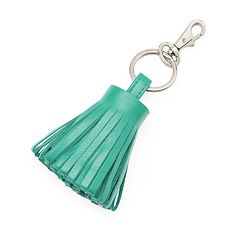 ili Leather Tassel Key Chain