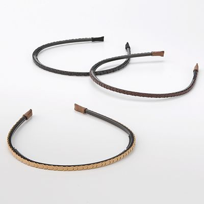 Apt. 9 3-pk. Skinny Braided Headband Set