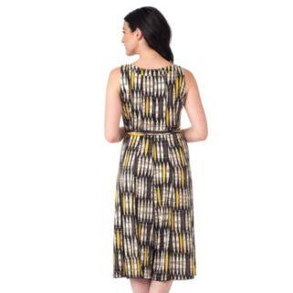 Women's ILE New York Geometric Midi Dress
