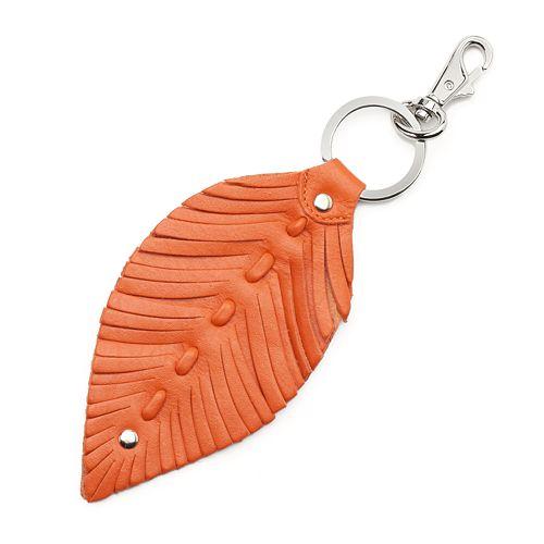 ili Leather Leaf Key Chain