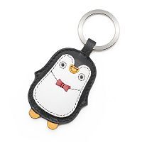 ili Leather Penguin Key Chain