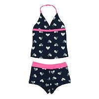 Toddler Girl OshKosh B'gosh® Heart Pattern Halter Tankini & Bottoms Swimsuit Set