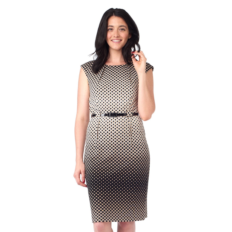 Womens ILE New York Dot Sheath Dress