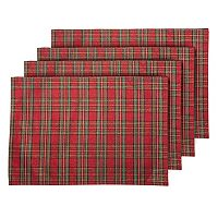Lenox Holiday Nouveau Plaid Placemat 4-pk.