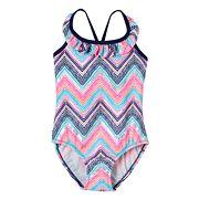 Toddler Girl OshKosh B'gosh® Chevron Ruffle One-Piece Swimsuit