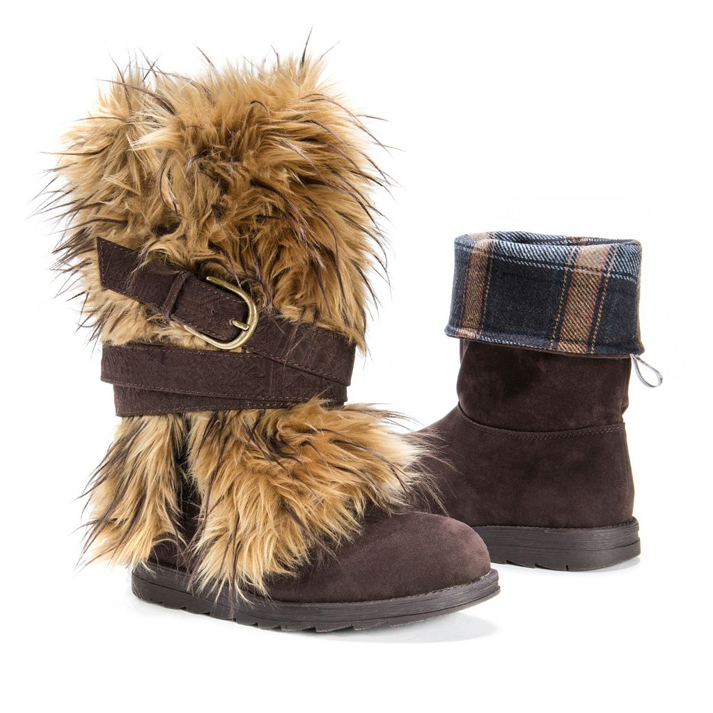 MUK LUKS Nikki Women's Fuzzy Water-Resistant Boots