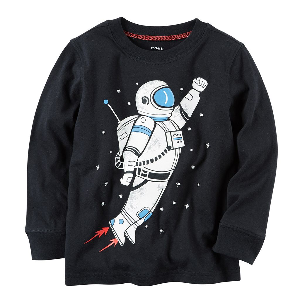 Toddler Boy Carter's Long Sleeve Astronaut Graphic Tee