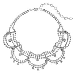Apt. 9® Simulated Crystal Scalloped Choker Necklace