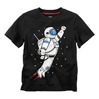 Toddler Boy Carter's Short Sleeve Astronaut Graphic Tee