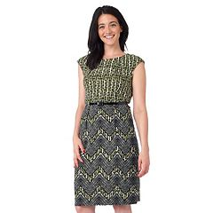 Women's ILE New York Contrast Chevron Sheath Dress