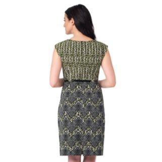 Women's ILE New York Contrast Chevron Sheath Dress