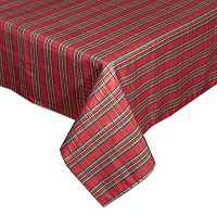 Lenox Holiday Nouveau Plaid Tablecloth