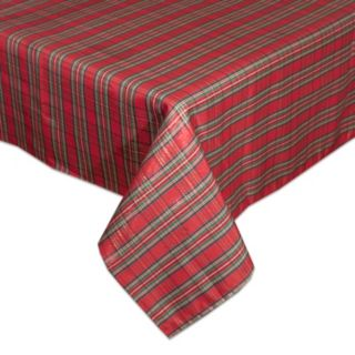 Lenox Holiday Nouveau Plaid Tablecloth