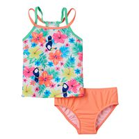 Girls 4-6x Carter's Tropical Flower Print Tankini Top & Bottoms Swimsuit Set