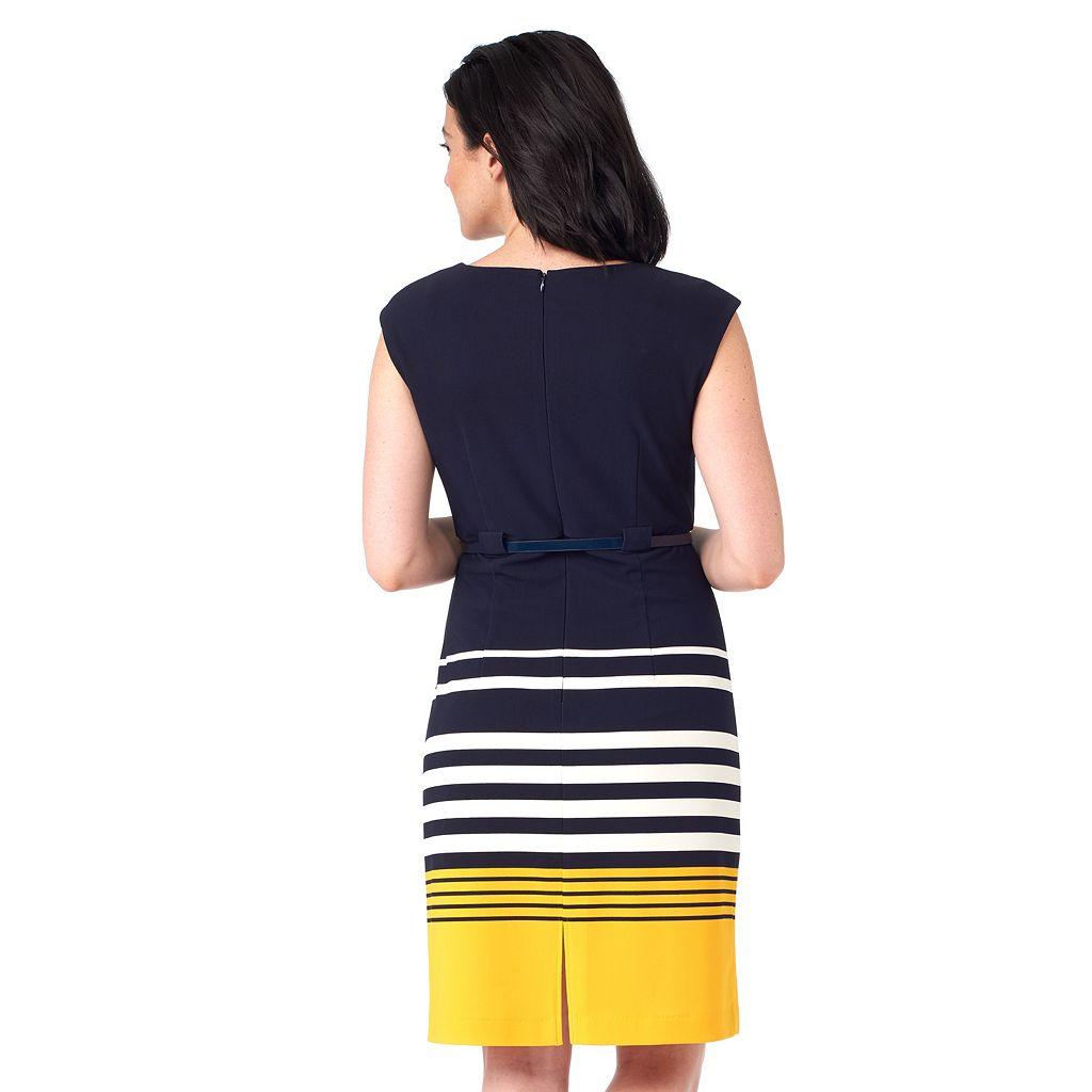 Women's ILE New York Striped Sheath Dress
