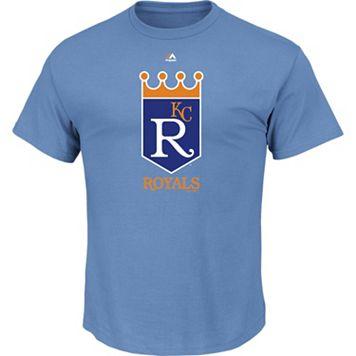 Men's Majestic Kansas City Royals Cooperstown Official Logo Tee