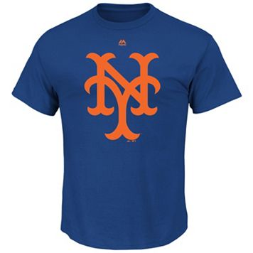 Men's Majestic New York Mets Cooperstown Official Logo Tee
