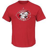 Men's Majestic Cincinnati Reds Cooperstown Official Logo Tee