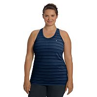 Plus Size Champion Vapor Striped Racerback Tank