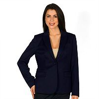 Women's Harve Benard One-Button Solid Blazer