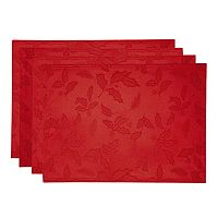 Lenox Holly Leaf Damask Placemat 4 pk