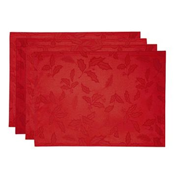 Lenox Holly Leaf Damask Placemat 4-pk.