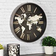 FirsTime World Map Wall Clock