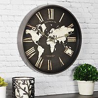 FirsTime World Map Wall Clock