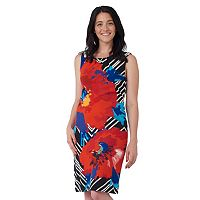 Women's ILE New York Abstract Floral Sheath Dress