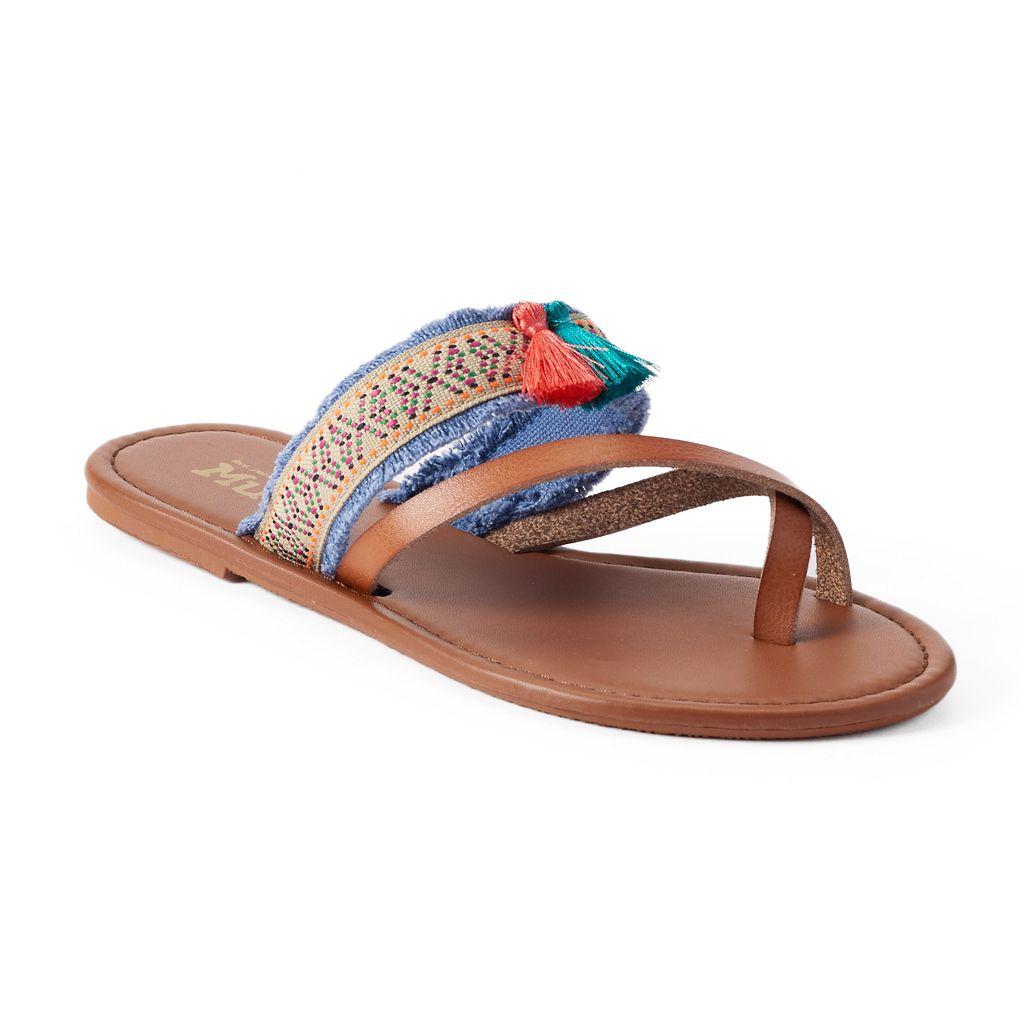 Mudd® Women's Festival Woven Tassel Flip-Flops