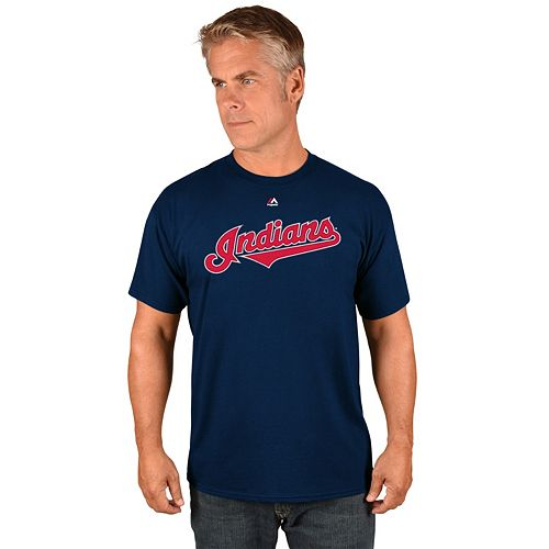 Men's Majestic Cleveland Indians Wordmark Tee