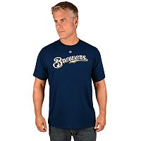 Men's Majestic Milwaukee Brewers Wordmark Tee