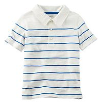 Toddler Boy Carter's Slubbed Thin Stripe Polo