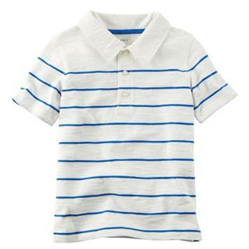 Toddler Boy Carter's Slubbed Thin Stripe Polo