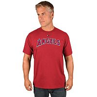 Men's Majestic Los Angeles Angels of Anaheim Wordmark Tee