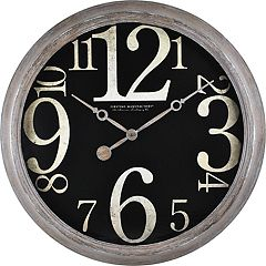 FirsTime Weathered Tilt Wall Clock