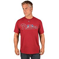 Men's Majestic Philadelphia Phillies Wordmark Tee